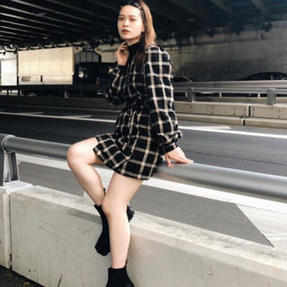 SLY - 【SALE】SLY GINNY PLAID CHECK MINI OPワンピ