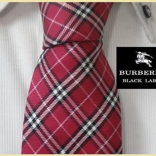 BURBERRY BLACK LABEL - 極美品★バーバリーブラックレーベル【赤バーバリーチェック柄】ネクタイ希少