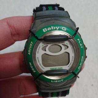 ベビージー(Baby-G)のベイビージー Baby-G G-shock グリーン アウトドア 中古 安い(腕時計(デジタル))