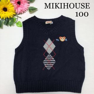 mikihouse - ミキハウス ニット ベスト 100  くま フォーマル にも ファミリア