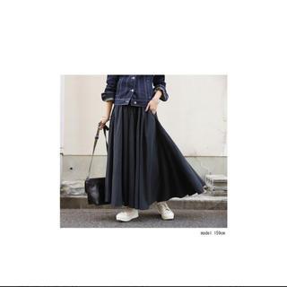 アンティカ(antiqua)のロングスカート フレアスカート ブラック(ロングスカート)