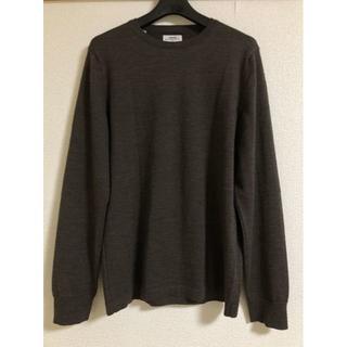 ヴィスヴィム(VISVIM)のVISVIM SELMER INDIGO PIZI CREW ブラウン セーター(ニット/セーター)