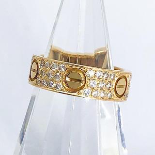 Cartier - 【仕上済】カルティエ ラブリング YG ダイヤ 8号 リング 指輪