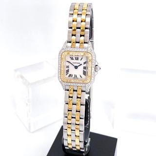 Cartier - 【仕上済】カルティエ パンテール 新型 ダイヤ コンビ レディース 腕時計