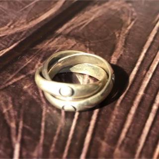 三連リングシルバー三連指輪シルバー925  SILVER925 純銀三連リング(リング(指輪))