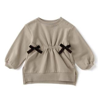 プティマイン(petit main)の新品 petit main  ウエストシャーリング長袖トレーナー(Tシャツ/カットソー)