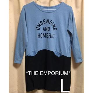 THE EMPORIUM - ジ エンポリアム チュニック チュニックワンピース L