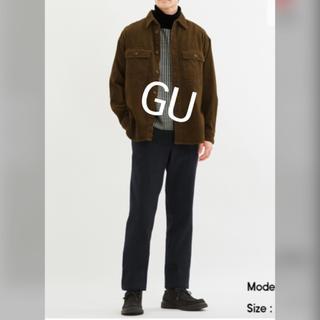 ジーユー(GU)の【GU】メンズ★ブラック裏フリースチノパン(L:股下73.5㎝)(チノパン)
