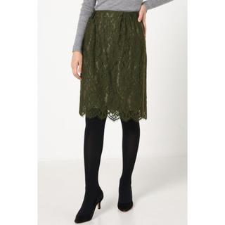 ラトータリテ(La TOTALITE)のラトータリテ ツイカサイドグログランレーススカート(ひざ丈スカート)