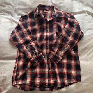 ウィゴー(WEGO)の肩あきチェックシャツ(シャツ/ブラウス(長袖/七分))
