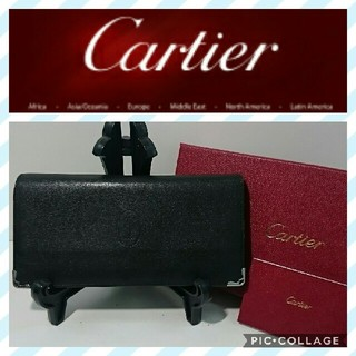 Cartier - カルティエ 長財布 二つ折り財布 黒色 マストライン