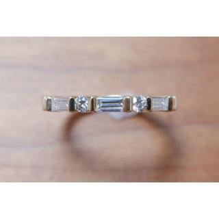 K18 SUWA ダイヤモンド 0.45ct スワ リング 諏訪貿易 ハーフエタ(リング(指輪))