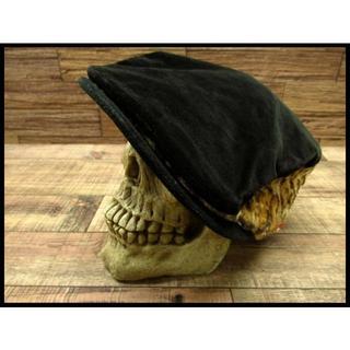 ダブルタップス(W)taps)の◆美品◆ WTAPS ダブルタップス レオパード 切替 ハンチング 帽子 黒 L(ハンチング/ベレー帽)