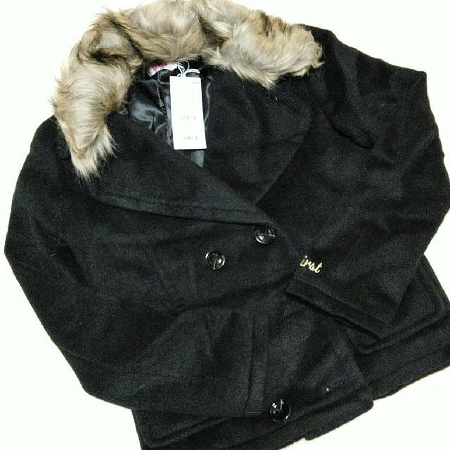 INGNI First(イングファースト)の新品INGNIFirst ショートコート(黒)160 キッズ/ベビー/マタニティのキッズ服女の子用(90cm~)(コート)の商品写真
