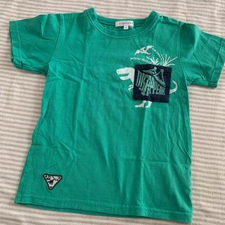 3can4on - 【中古】サンカンシオン 恐竜プリントTシャツ 120