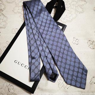 Gucci - 【限定色】GUCCI ネクタイ GG柄 ブルー