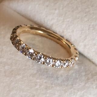フルエタニティ 1.45ct 8号 ダイヤ イエローゴールド エタニティ 指輪(リング(指輪))