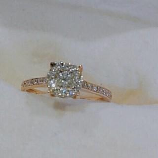 エステルドバルローズ(ESTELLE DE VALROSE)のESTELLE ダイヤモンドリング(リング(指輪))