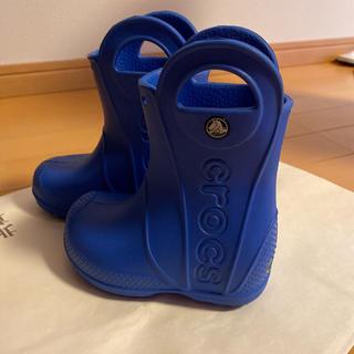 crocs - クロックス 長靴 14センチ 青色