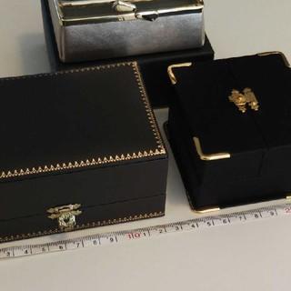 ete - エテ アクセサリーボックス リング ネックレス ケース 3個セット ミラー付き