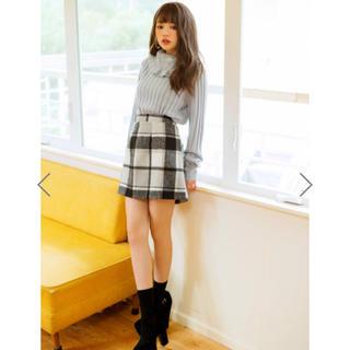 GRL - シャギーチェック台形ミニスカート