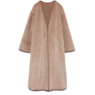 ファーファー(fur fur)の《19AW今季商品》FURFURリバーシブルエコファーコート(ロングコート)