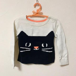 ギャップ(GAP)のGAP ベビー 子供服 12~18ヶ月 70 80 ネコ(ニット/セーター)