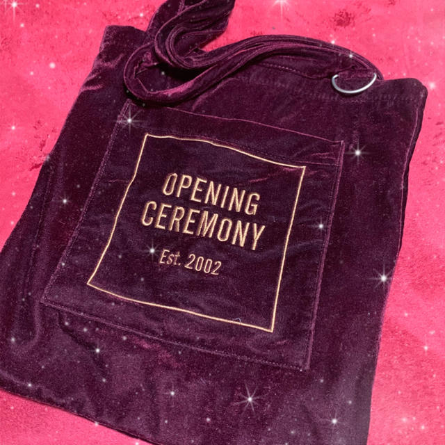 OPENING CEREMONY(オープニングセレモニー)のOPENING CEREMONY ベロアトートバッグ レディースのバッグ(トートバッグ)の商品写真