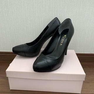 DIANA - DIANA パンプス ブラック黒24.5cm