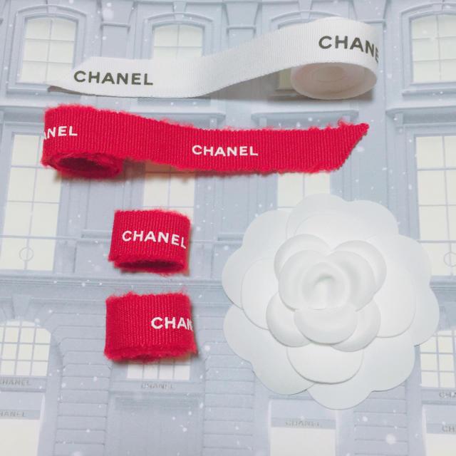 CHANEL(シャネル)のCHANEL カメリア リボン インテリア/住まい/日用品のオフィス用品(ラッピング/包装)の商品写真