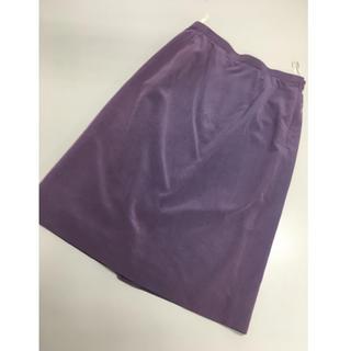バンベール(VINVERT)のバンベール ◆セットアップスカート◆パープル◆レトロ(ひざ丈スカート)
