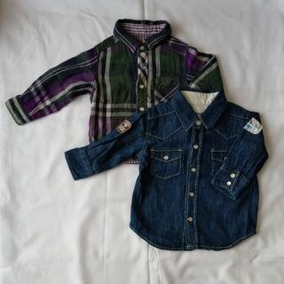 エフオーキッズ(F.O.KIDS)のOshKoshとF.O.KIDSのシャツ2点セット70/80 (シャツ/カットソー)
