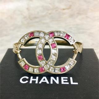 CHANEL - 正規品 シャネル ブレスレット ゴールド ココマーク ラインストーン バングル
