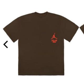 NIKE - nike travis scott jordan Tシャツ Lサイズ  ブラウン