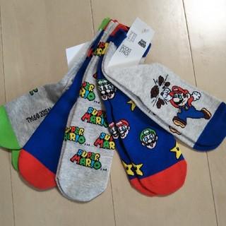 エイチアンドエム(H&M)のH&M マリオ 靴下 ソックス サイズ20~22cm(靴下/タイツ)