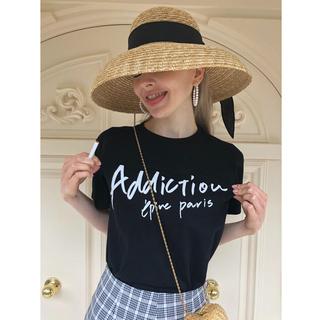 ロキエ(Lochie)のépine Tシャツ addiction tee black エピヌ(Tシャツ/カットソー(半袖/袖なし))