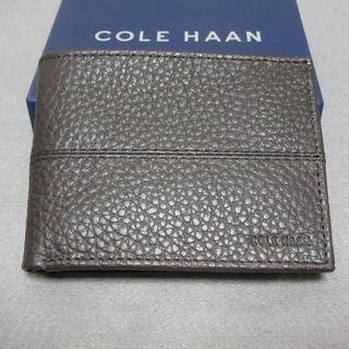 コールハーン(Cole Haan)の新品 COLE HAAN コールハーン 本革ウォレット 二つ折り財布 メンズ(折り財布)