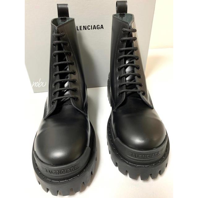 Balenciaga(バレンシアガ)の新品【 Balenciaga 】Strike Leather Boots 41 メンズの靴/シューズ(ブーツ)の商品写真