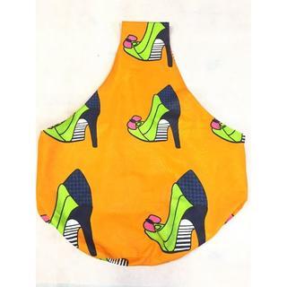 オレンジ アフリカ布 しずくバッグ マザーズバッグ バオバブ神戸(ショルダーバッグ)