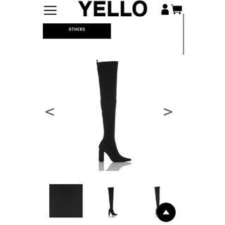 イエローブーツ(Yellow boots)のYELLO tokyoblack ニーハイブーツ(ブーツ)