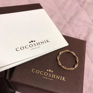 ココシュニック(COCOSHNIK)のココシュニック 丸線ねじりリング k10(リング(指輪))