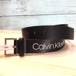 Calvin Klein - 新品 プレゼント ブランド カルバン・クライン CK ロゴ 黒 ベルト バックル
