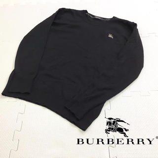 BURBERRY BLACK LABEL - 美品 BURBERRY BLACK LABEL カシミヤ混 ニット 刺繍ロゴ