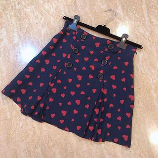 ジルバイジルスチュアート(JILL by JILLSTUART)のハート柄スカート(ミニスカート)