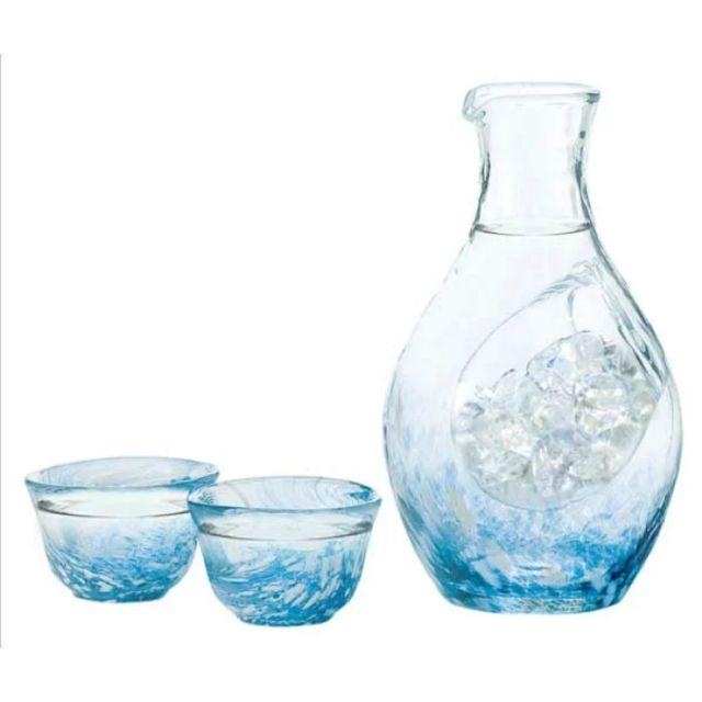 東洋佐々木ガラス(トウヨウササキガラス)の冷酒 器セット ガラス とっくり ぐい飲み インテリア/住まい/日用品のキッチン/食器(アルコールグッズ)の商品写真