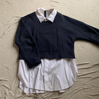 ステュディオス(STUDIOUS)のnear.nippon シャツ付スウェット(シャツ/ブラウス(長袖/七分))