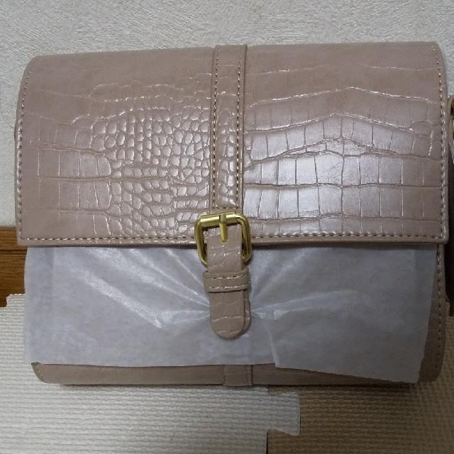 しまむら(シマムラ)のプチプラのあや クロコショルダーバッグ しまむら レディースのバッグ(ショルダーバッグ)の商品写真