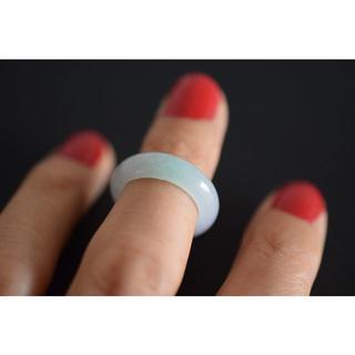 15-123 小指 薬指 6.0号 天然 A貨 翡翠 リング 硬玉(リング(指輪))