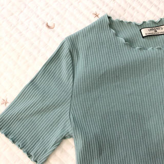 シマムラ(しまむら)のミントグリーン チェリー様(Tシャツ(半袖/袖なし))