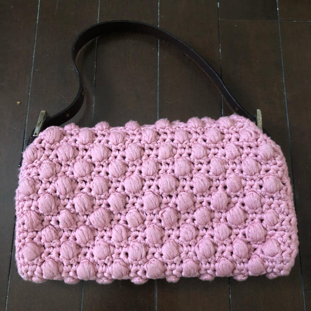 FENDI(フェンディ)の美品FENDIニットバケット/バゲット フェンディ マンマ レディースのバッグ(ハンドバッグ)の商品写真